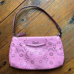 Coach Pink Eyelet Handbag
